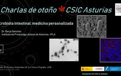 Las Charlas de Otoño – Microbiota Intestinal: Medicina Personalizada – Dr. Borja Sánchez