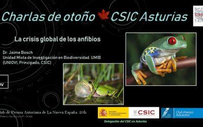 Las Charlas de Otoño – La Crisis Global de los Anfibios – Dr. Jaime Bosch