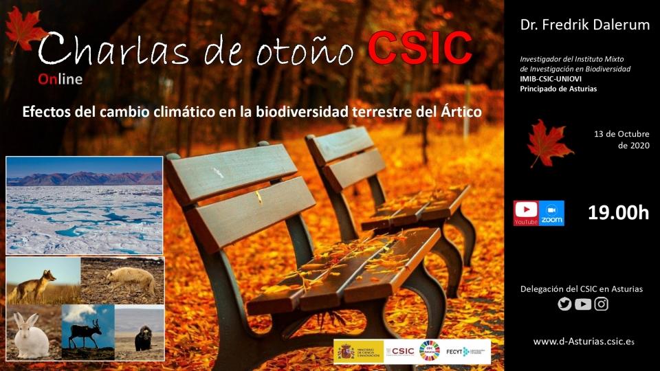 Charlas de Otoño 2020: Efectos del cambio climático en la biodiversidad terrestre del Ártico