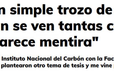 Entrevista a nuestra Delegada en el diarío La Nueva España. «En un simple trozo de carbón se ven tantas cosas que parece mentira»