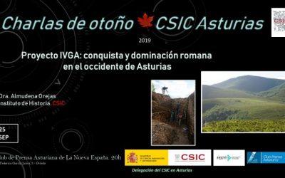 Las Charlas de Otoño – Proyecto IVGA: conquista y dominación romana en el occidente de Asturias – Dra. Almudena Orejas