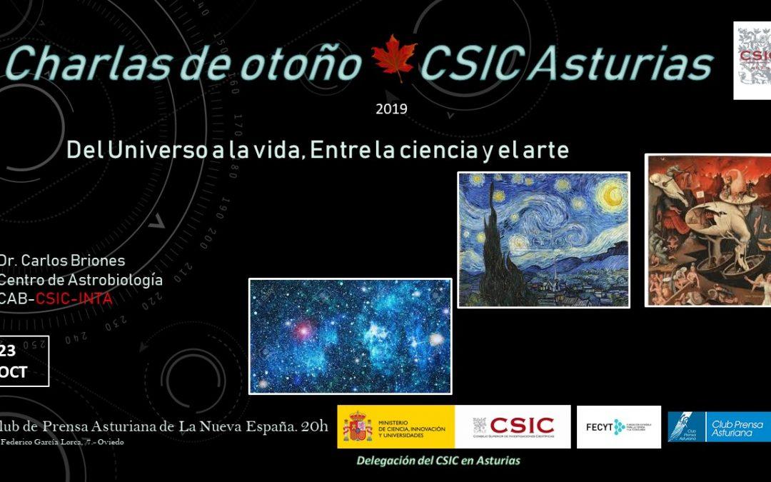 Las Charlas de Otoño – Del Universo a la Vida, entre la Ciencia y el Arte – Dr. Carlos Briones