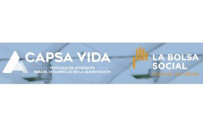 Capsa Vida y la Bolsa Social abren una convocatoria para financiar soluciones de impacto aplicadas a la alimentación